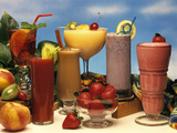 1990s Low Calorie Fruit Coolers and Smoothies Photographic Print by J. Graham