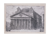 A View of the Pantheon of Agrippa with the Church of Santa Maria Giclee Print by Giovanni Battista Piranesi
