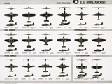 Poster of U.S. Naval Combat and Transport Aircraft Fotografická reprodukce