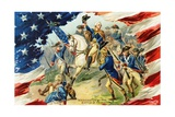 Washington at the Battle of Princeton Postcard Giclee Print