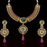 Indian Necklace and Earring Set Photographic Print