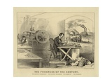 The Progress of the Century Giclee Print by  Currier & Ives