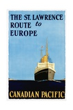 The St. Lawrence Route to Europe Poster Giclee Print