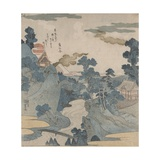 Fuji No Yukei (An Evening View of Fuji) Giclee Print by Kuniyoshi Utagawa