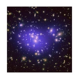 Dark Matter Map in Galaxy Cluster Abell 1689 Giclee Print