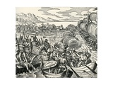 Battle During Vespucci Expedition Giclee Print