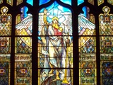 Angel of the Resurrection Stained Glass Window Photographic Print by Louis Comfort Tiffany