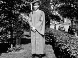 High School Grad Poses in His Cap and Gown, Ca. 1944 Photographic Print