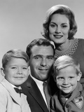 1960s Family Portrait Father Mother Two Sons Smiling Photographic Print