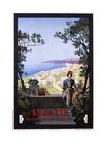 Varazze Italian Travel Poster Giclee Print