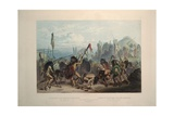Bison Dance of the Mandan Indians Giclee Print by Karl Bodmer