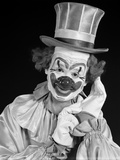 1950s Portrait of Clown Wearing Top Hat Smiling Photographic Print