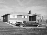 Newly Constructed Suburban Home in Washington State, Ca. 1957 Photographic Print
