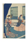 Courtesans in a Western-Style Building of Yokohama Giclee Print by Utagawa Sadahide