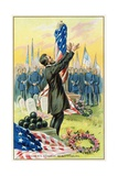 Lincoln's Address at Gettysburg Postcard Giclee Print
