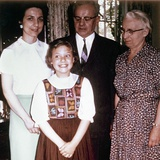 Young Girl with Mother and Grandparents, Ca. 1966 Photographic Print