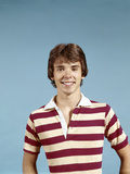 1970s Portrait of Smiling Teenage Boy Wearing Striped Rugby Shirt Photographic Print
