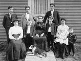 Wisconsin Farm Family Gathers for a Portrait, Ca. 1905 Photographic Print