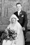 Wedding Portrait of Young Couple, Ca. 1924 Photographic Print