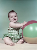 1960s Baby Beach Ball Bathing Suit Photographic Print