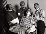 1970s 19th Century Style Barbershop Quartet Singing Together Reproduction photographique