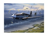American Planes on Reconnaissance Mission over Normandy Giclee Print