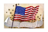 The Star Spangled Banner in Triumph Shall Wave Postcard Reproduction procédé giclée