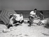 Picnic on the Beach Photographic Print by Philip Gendreau