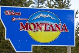 Welcome to Montana Sign Photographic Print by Paul Souders