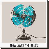 Blow Away the Blues Stretched Canvas Print by Ben James