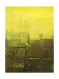 Urban Nocturne Giclee Print by Paul Cornoyer