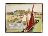 Lowestoft First Class Golf Poster Giclee Print