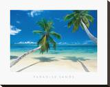 Paradise Sands Stretched Canvas Print by  Adam Brock