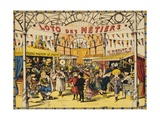 Loto Des Metiers Poster Giclee Print