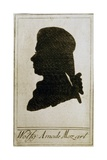 Silhouette of Mozart Giclee Print