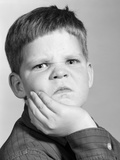 1960s Little Boy Making Angry Funny Facial Expression Photographic Print