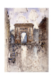 La Porte St. Denis, Paris Giclee Print by Frank Myers Boggs