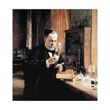 Louis Pasteur in His Laboratory Giclee Print