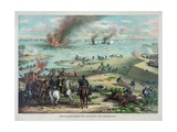 Battle Between the Monitor and Merrimac Giclee Print