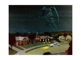 Death Looming over Suburban House Giclee Print