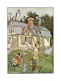 Illustration Showing Alice Cramped Inside the White Rabbit's House Giclee Print by Milo Winter