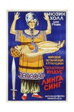 Russian Poster for Mysterious Hindu Linga Sing Giclee Print