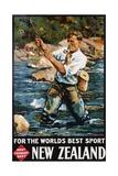 For the World's Best Sport, New Zealand Poster Impression giclée par M.A. Poulton