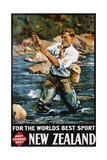 For the World's Best Sport, New Zealand Poster Giclee Print by M.A. Poulton