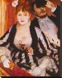 La Loge Stretched Canvas Print by Pierre-Auguste Renoir