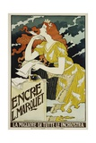 Encre L. Marquet Writing Products Poster Giclee Print by Eugene Grasset