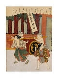 The Second Month from the Series Customs of Poets in the Four Seasons Giclee Print by Harunobu Harunobu