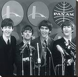 The Beatles IV Stretched Canvas Print by  British Pathe