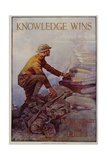 Knowledge Wins Poster Giclee Print by Dan Smith