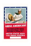 Arise Americans Navy Recruitment Poster Giclee Print by McClelland Barclay